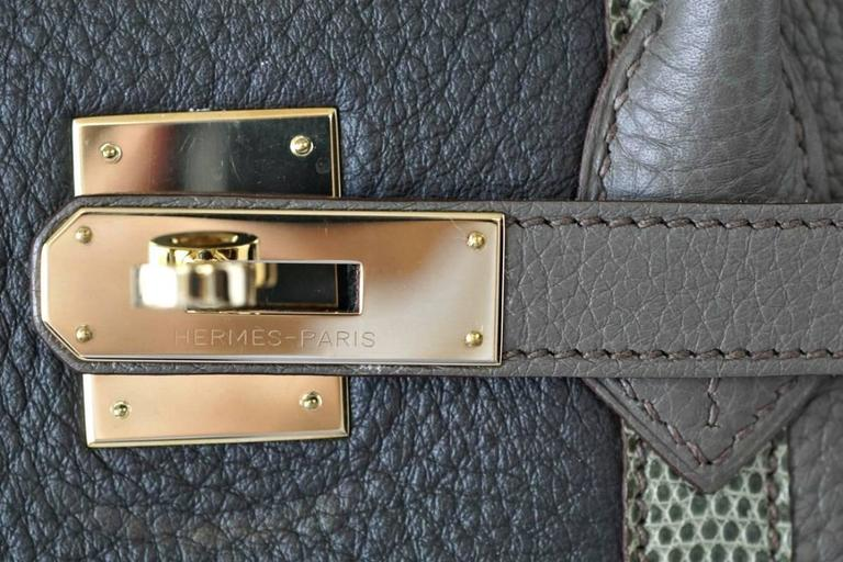 HERMES BIRKIN 35 Bag Limited Edition Club Etain Gray Permabrass rare 3