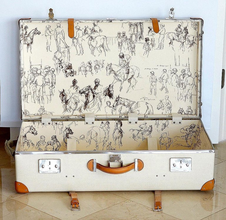 Beige Hermes Suitcase Faubourg Express Limited Edition Only 3 in USA Very Rare For Sale