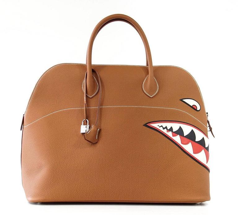 HERMES BOLIDE Bag Very Rare Limited Edition Runway Shark Bolide Palladium  2