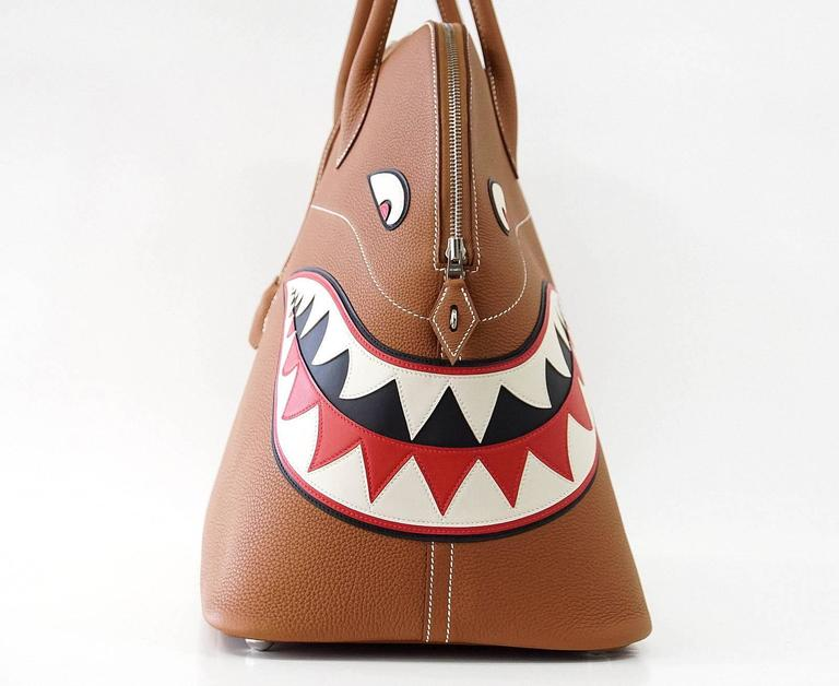 HERMES BOLIDE Bag Very Rare Limited Edition Runway Shark Bolide Palladium  3