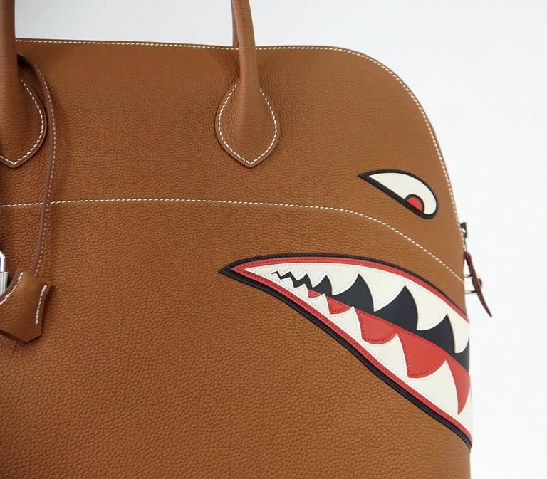 HERMES BOLIDE Bag Very Rare Limited Edition Runway Shark Bolide Palladium  4