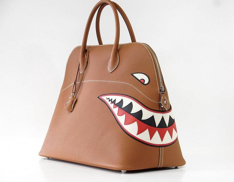 HERMES BOLIDE Bag Very Rare Limited Edition Runway Shark Bolide Palladium  5