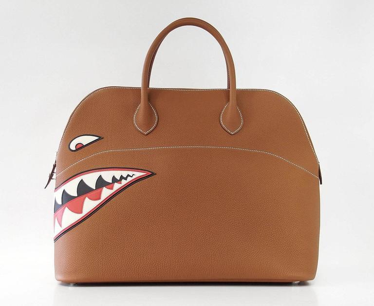 Hermes Bolide Bag Shark Monster Bolide Gold Palladium Limited Edition 6