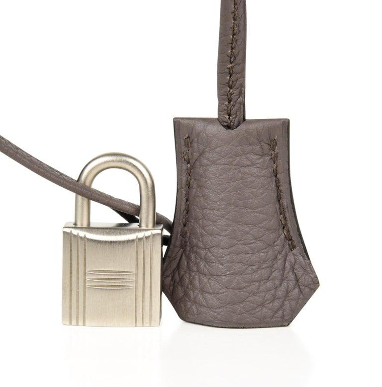 Black Hermes Birkin HSS 30 Bag Blue Nuit / Etain Togo Brushed Palladium  For Sale