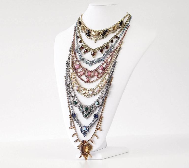 ERICKSON BEAMON Necklace Vintage Stones Baroque Creation SO Striking 4