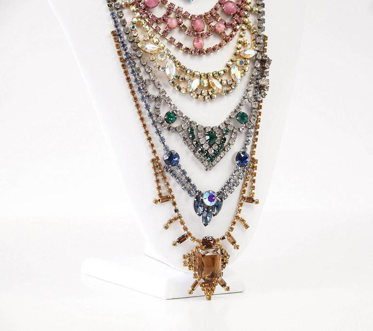 ERICKSON BEAMON Necklace Vintage Stones Baroque Creation SO Striking 5