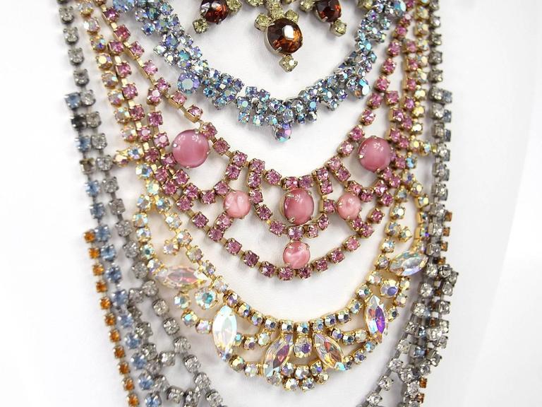 ERICKSON BEAMON Necklace Vintage Stones Baroque Creation SO Striking 7
