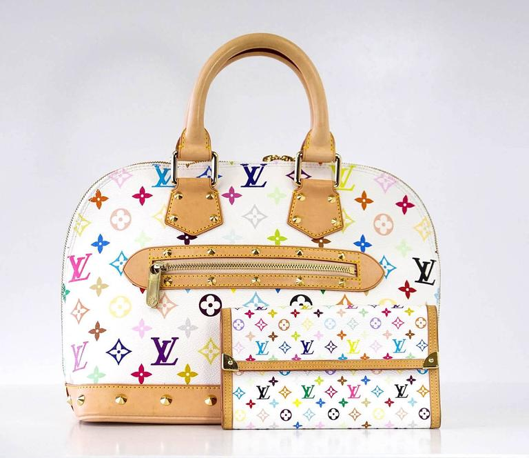 cf42dd5bc8662 Louis Vuitton Bag White Murakami Alma Beauty at 1stdibs