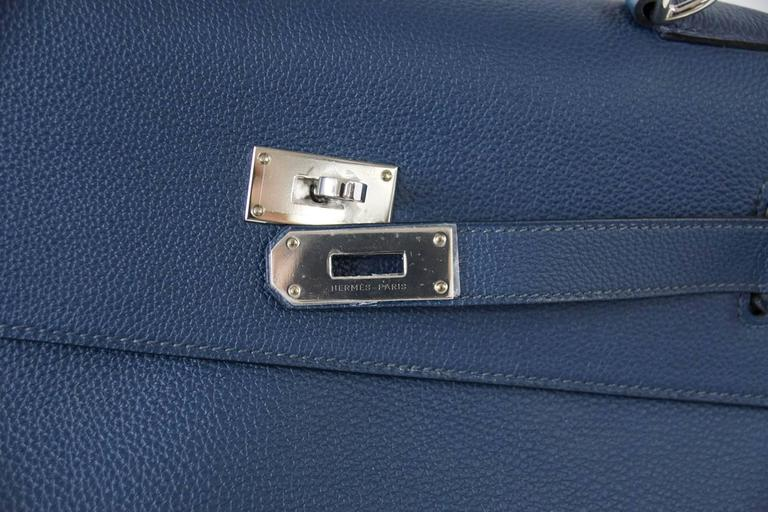 HERMES Kelly Voyage 50 cm Blue de Prusse Togo Palladium Carry On Weekender 2