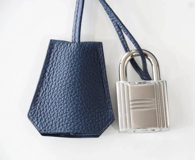 HERMES Kelly Voyage 50 cm Blue de Prusse Togo Palladium Carry On Weekender 3