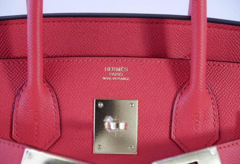 Hermes Birkin 30 Bag Rouge Tomate Epsom Gold Hardware 2