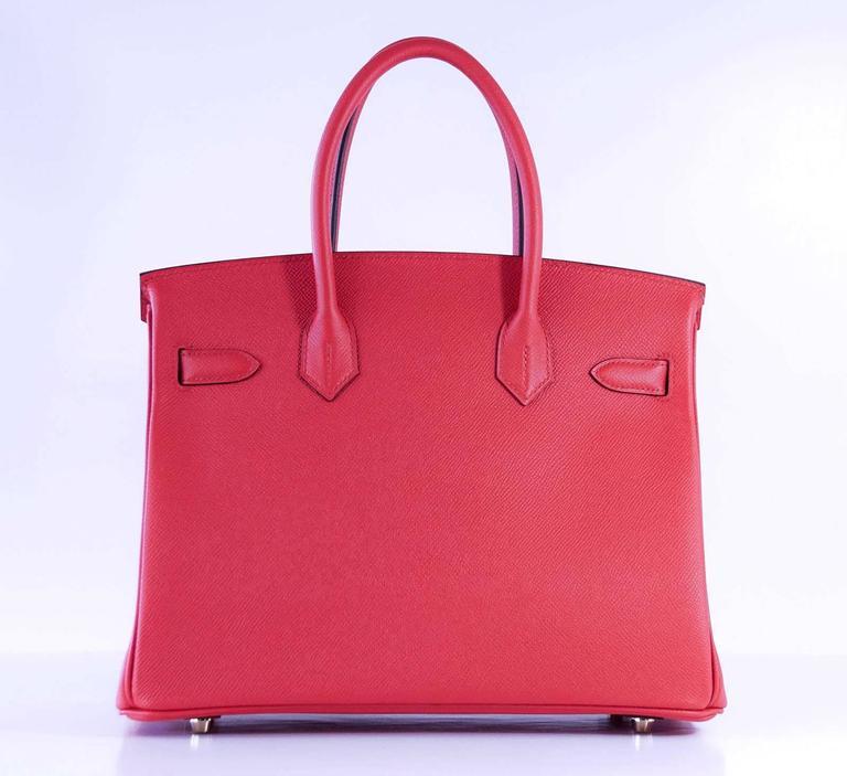 Hermes Birkin 30 Bag Rouge Tomate Epsom Gold Hardware 6
