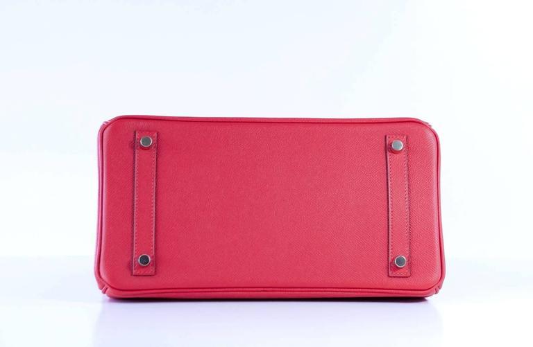 Hermes Birkin 30 Bag Rouge Tomate Epsom Gold Hardware 7