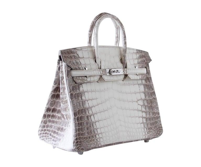 Women s Hermes Birkin Bag 25 Blanc Himalaya Exquisite Jewel Palladium  Hardware For Sale ecc4b5a76
