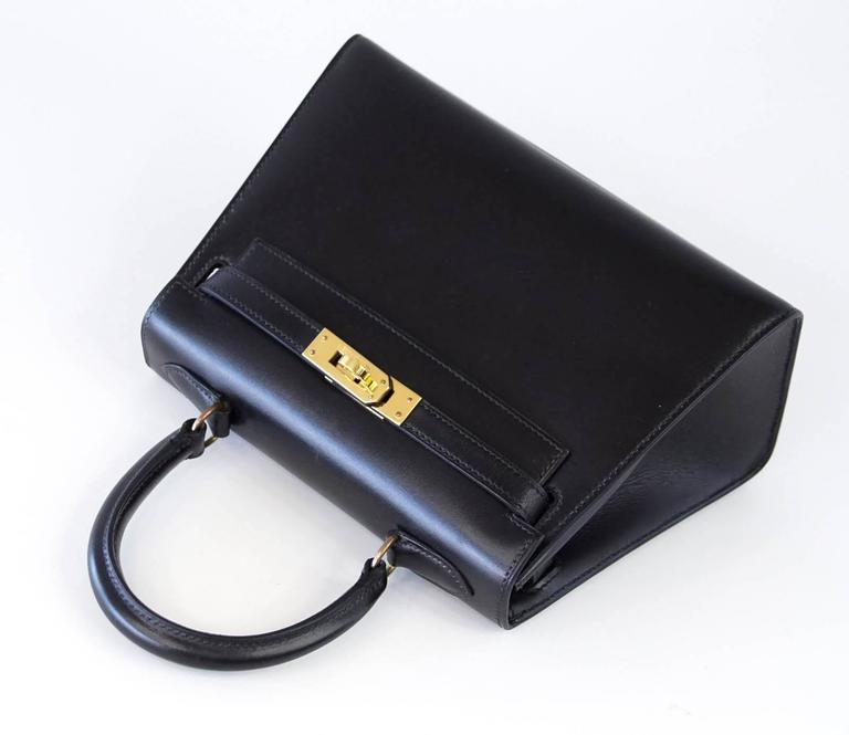 Hermes Kelly 20 Mini Vintage Kelly Sellier Box Leather Gold Hardware 4