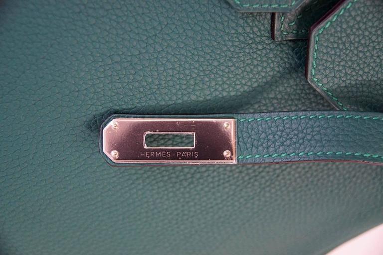 a3bc7cabeb06 Hermes Birkin 35 Bag Malachite Green Togo Palladium For Sale at 1stdibs