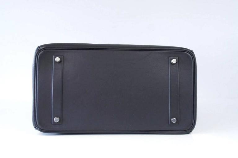 HERMES Shadow BIRKIN 35 Bag Ardoise Evercalf Leather Limited Edition VERY Rare 7