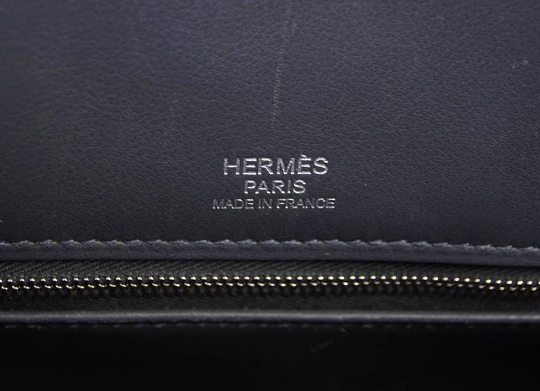 HERMES Shadow BIRKIN 35 Bag Ardoise Evercalf Leather Limited Edition VERY Rare 8