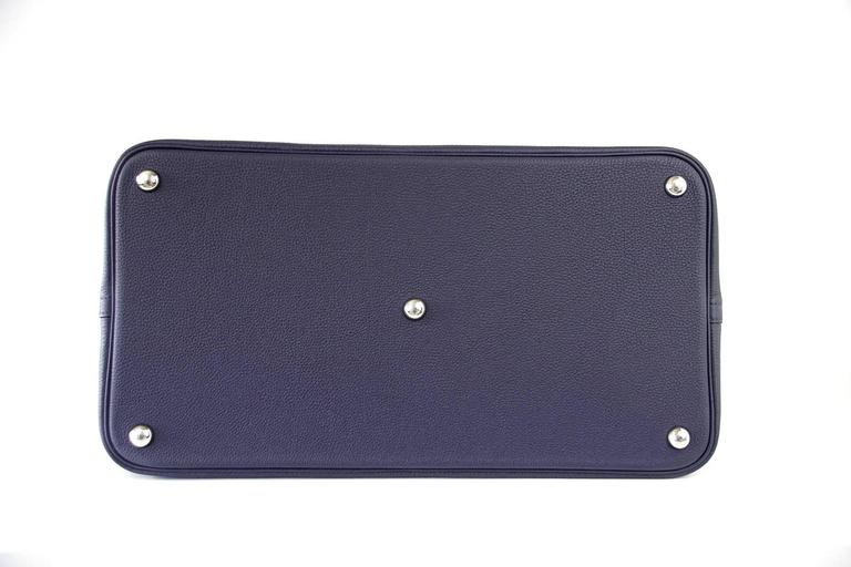 Hermes Bolide Runway Bag Shark Monster Unisex Blue Indigo Limited Edition 8