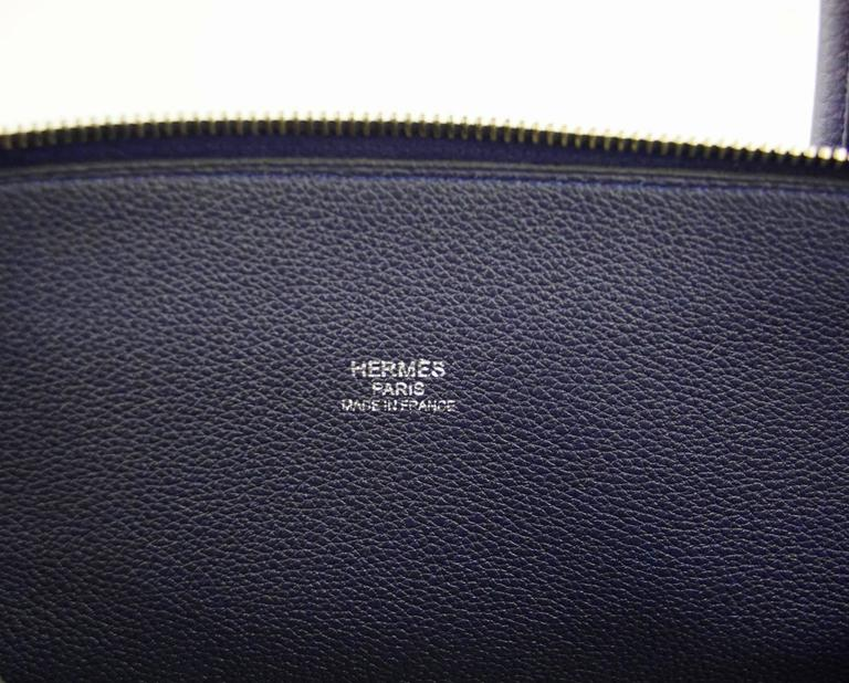 Hermes Bolide Runway Bag Shark Monster Unisex Blue Indigo Limited Edition 9