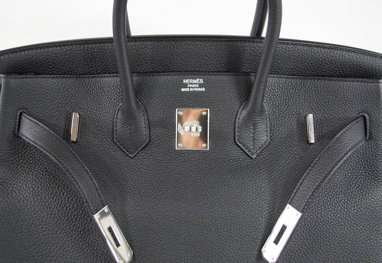91e1a16837 Guaranteed authentic Hermes Birkin 35 Off Black PLOMB is rare to find and  so chic!