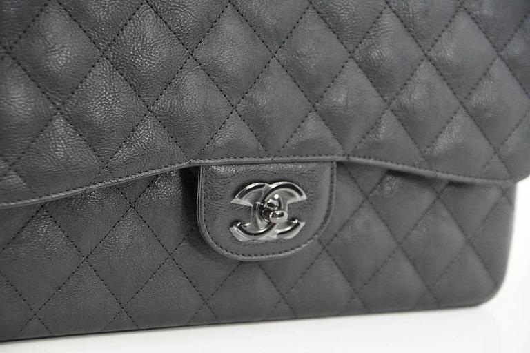 36fd7406e591 Guaranteed authentic CHANEL coveted So Black in rare quilted crumpled  calfskin. The matte finish of