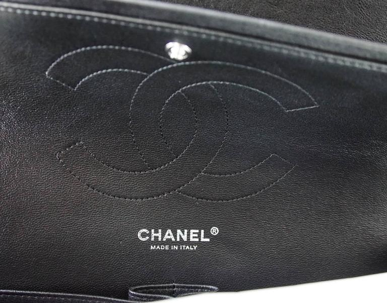 CHANEL Bag Quilted So Black Jumbo Classic Double Flap Calfskin Limited Edition For Sale 1