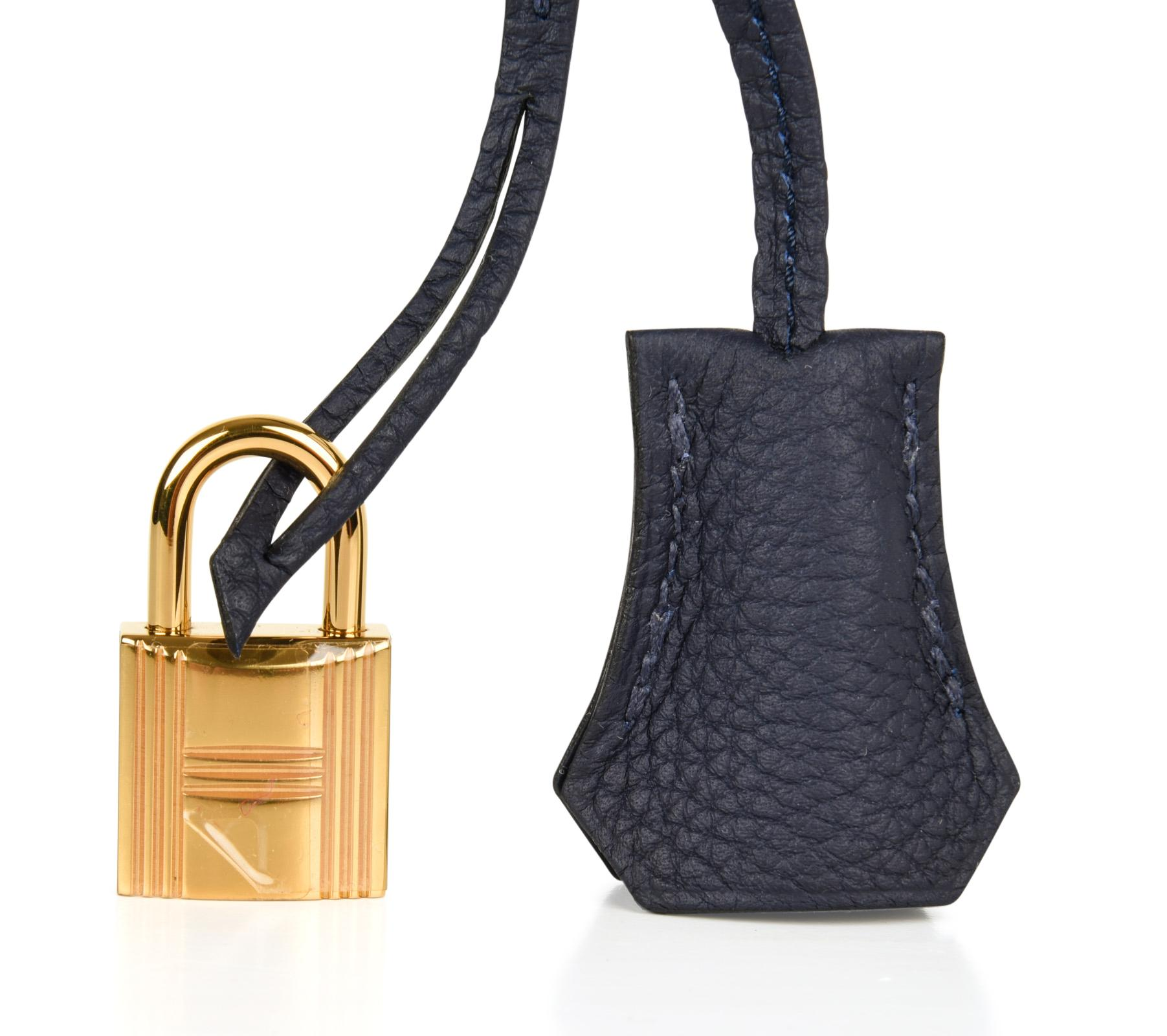 82814b6e826c Hermes Birkin 30 Bag Blue Nuit Gold Hardware Togo Leather at 1stdibs