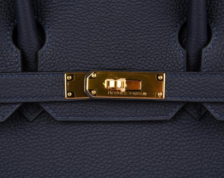2a6ecb2a2f29 Black Hermes Birkin 30 Bag Blue Nuit Gold Hardware Togo Leather For Sale