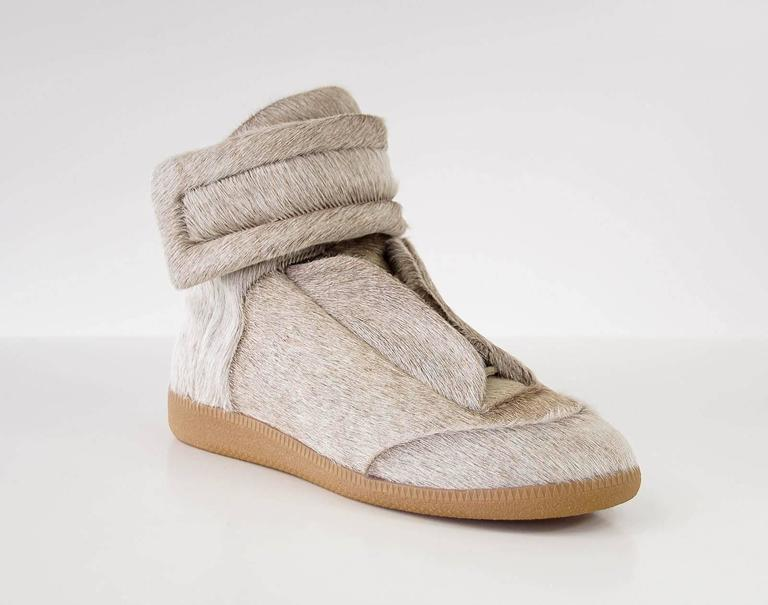 Brown  Maison Martin Margiela Pony High Top Sneaker Sanded Gray  43 / 10 For Sale