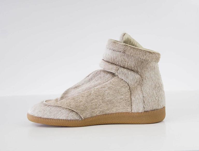 Maison Martin Margiela Pony High Top Sneaker Sanded Gray  43 / 10 5