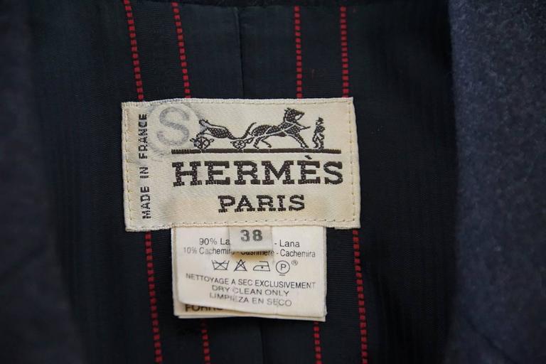 Hermes Jacket Striking Shape and Details in Wool and Suede Vintage  38 / 6 7