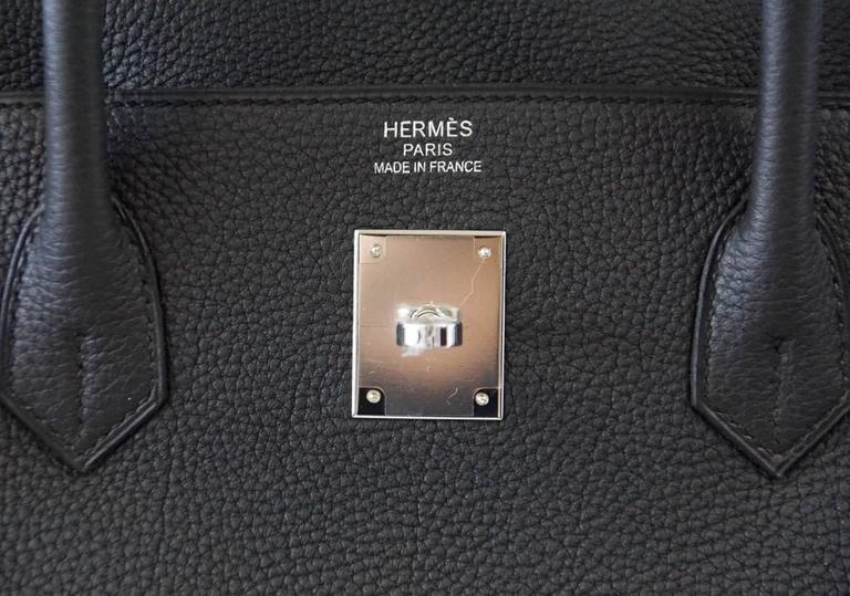 """Guaranteed authentic classic rich Matte Black HERMES Birkin. Togo leather.   Comes with lock, keys, clochette, sleeper, raincoat and signature HERMES box.  NEW or NEVER WORN. final sale   BAG MEASURES: LENGTH  40cm / 15.75"""" TALL    29cm /"""