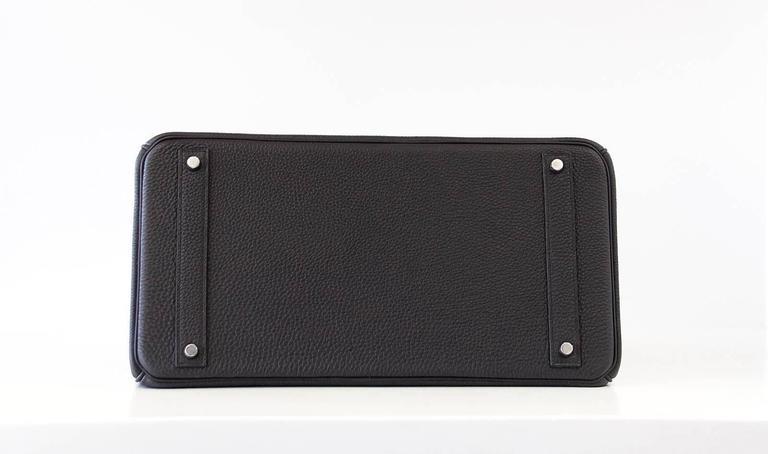 Hermes Birkin 40 Bag Rich Matte Black Togo Palladium Hardware For Sale 2