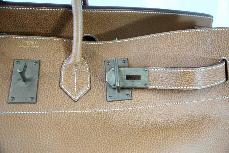 Hermes Birkin Bag 60 Vintage Celebrity Owned Hac Gold Ardennes Brass ... a911cccb7dec2