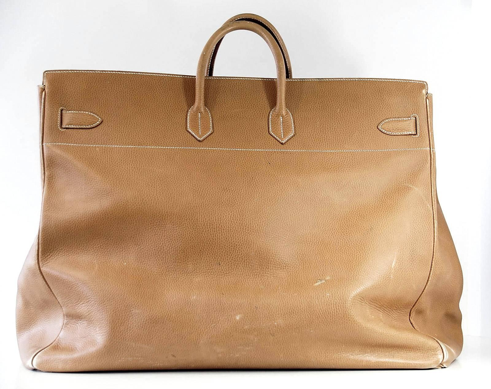 Hermes Birkin Bag 60 Vintage Celebrity Owned Hac Gold Ardennes Brass at  1stdibs c1ff938cce426