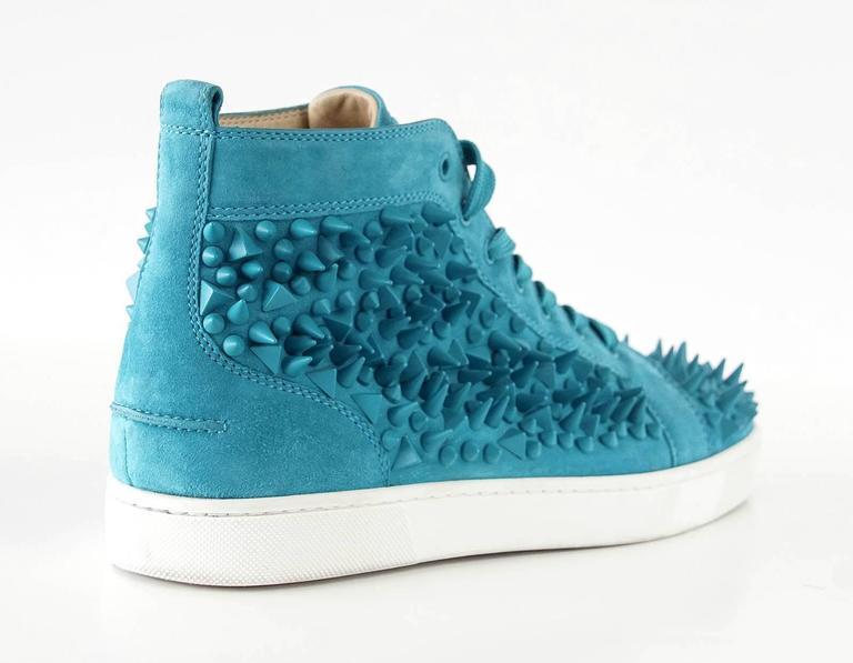 Christian Louboutin Sneakers Turquoise Louis Pik Pik Flat Suede 43.5 / 10.5 mint 4