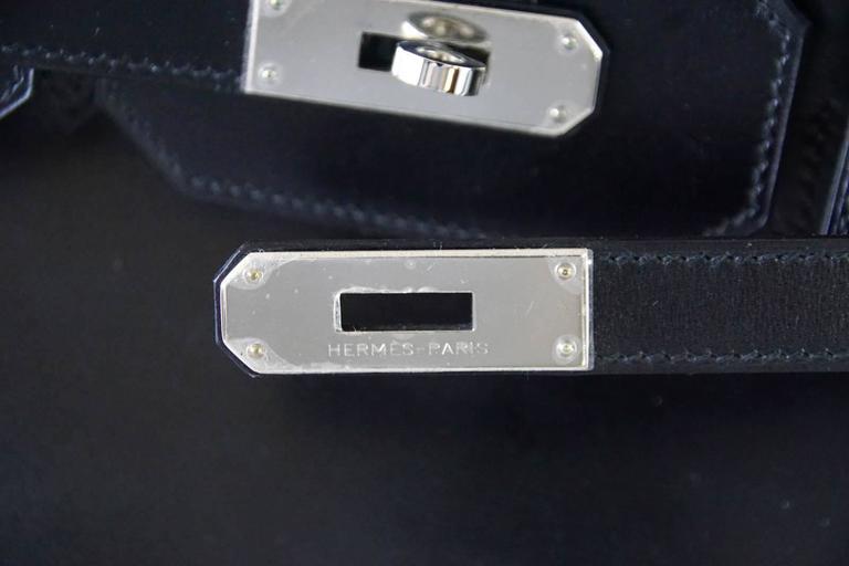 Hermes Birkin 35 Bag Black Rare Box Leather Palladium Hardware 3