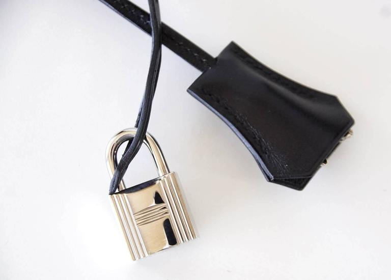 Hermes Birkin 35 Bag Black Rare Box Leather Palladium Hardware 4