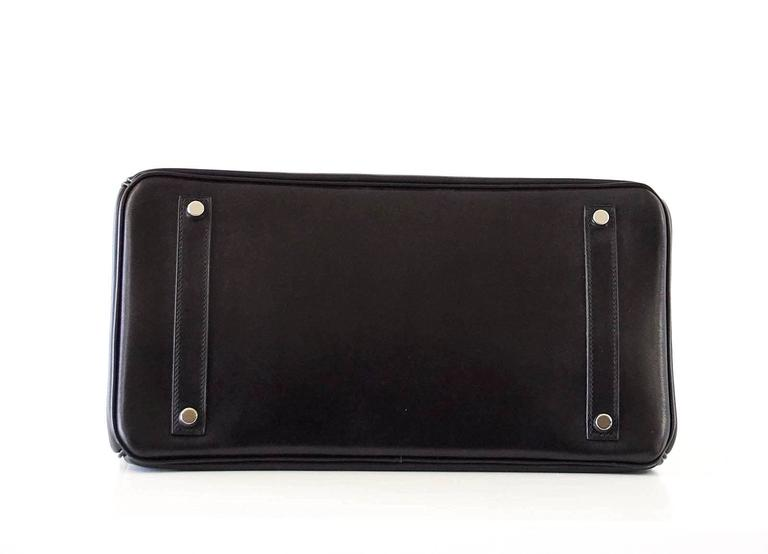 Hermes Birkin 35 Bag Black Rare Box Leather Palladium Hardware 7