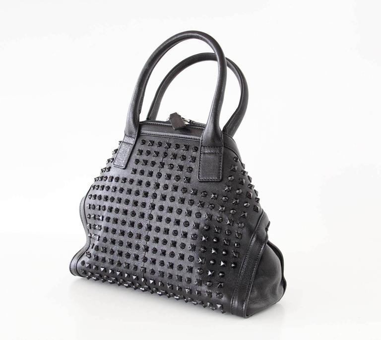 Women's Alexander McQueen Bag Black on Black De Manta Tote Shoulder Strap For Sale