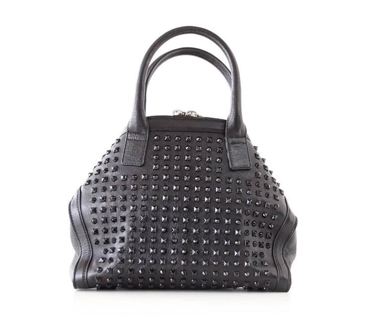 Alexander McQueen Bag Black on Black De Manta Tote Shoulder Strap For Sale 2
