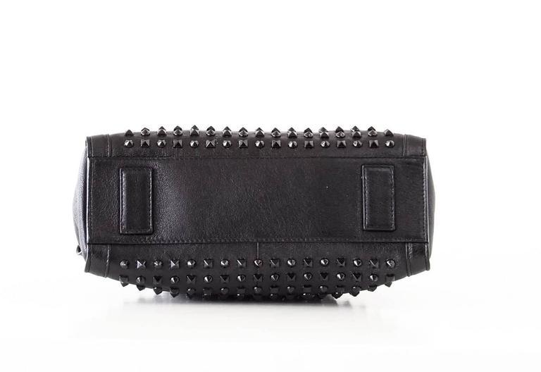 Alexander McQueen Bag Black on Black De Manta Tote Shoulder Strap For Sale 3