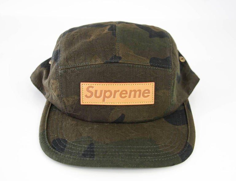 b013366c6 Louis Vuitton Supreme X Limited Edition 5 Panels Camouflage Cap In New  Condition For Sale In