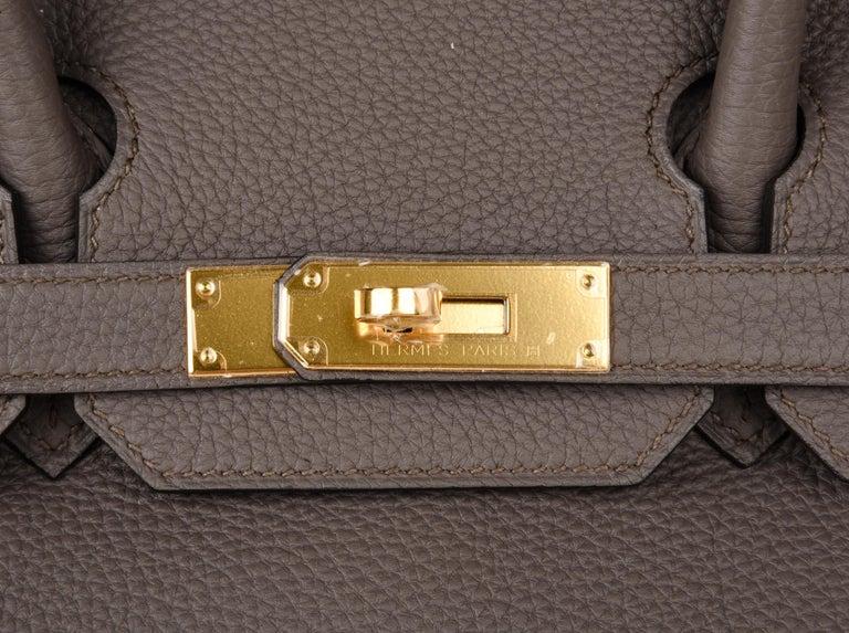 204d1be22b03 Women s Hermes Birkin 30 Bag Etain Gray Gold Hardware Togo Leather For Sale