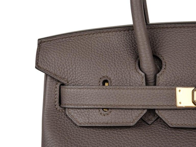 dcdc9123d457 Hermes Birkin 30 Bag Etain Gray Gold Hardware Togo Leather For Sale ...