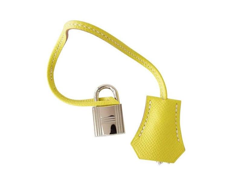 c2d5557d6998 Yellow Hermes Birkin 30 Bag Rare Lime Candy Gris Perle Interior Palladium  Hardware For Sale