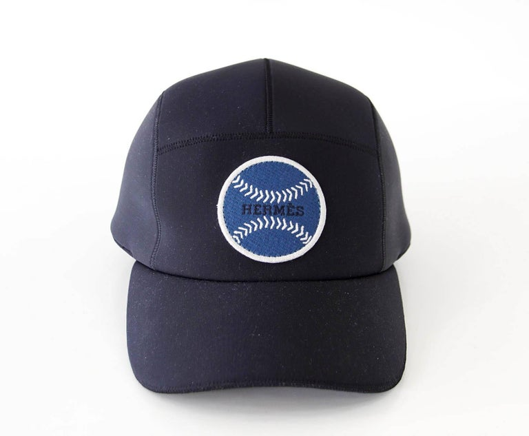Hermes Hat Men S Limited Edition Baseball Cap Black Blue