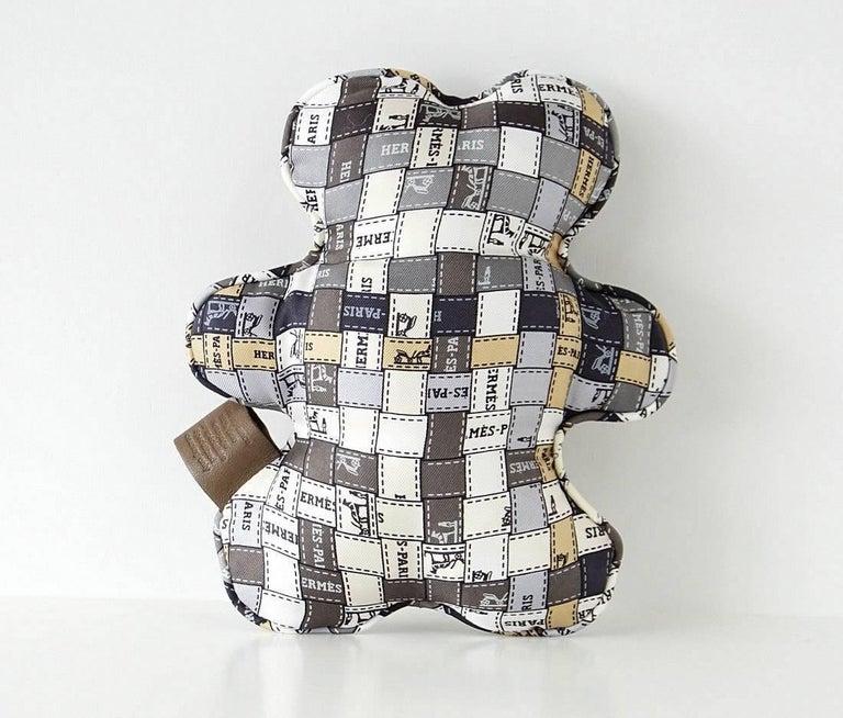 Hermes Dou Dou Bolduc Silk Teddy Bear SO Charming 3