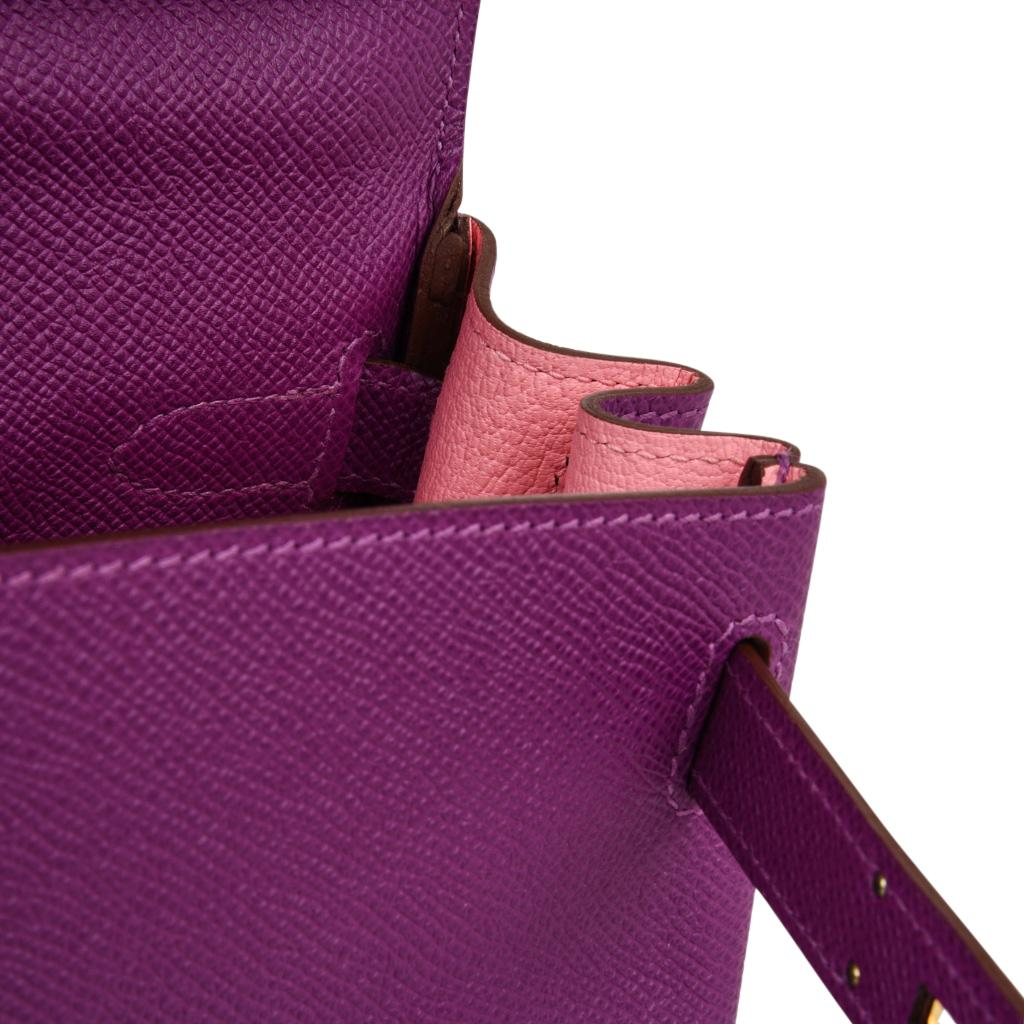 85a5626f64 Hermes Kelly 28 Bag HSS Anemone Pink Retourne Epsom Brushed Gold at 1stdibs